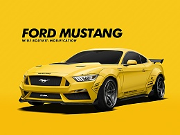 Ford Mustang-Wide Bodykit Modification