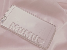 滴胶透明字母手机壳