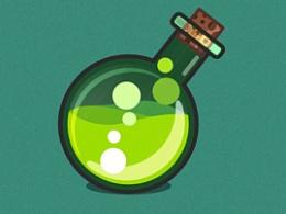 绿色药瓶子