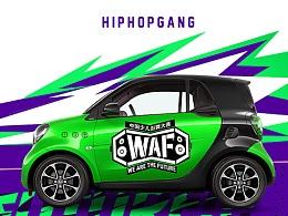 WAF中国少儿街舞大赛2017 嘻哈帮街舞 赛事活动视觉