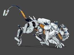 超写实绘画《机械奔跑》
