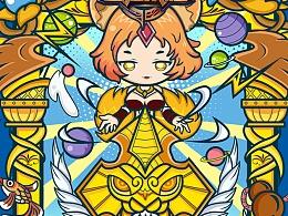 王者荣耀の光-T恤图案设计