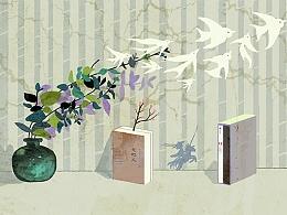 Boolink书店插图设计