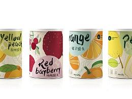 系列水果罐头包装设计