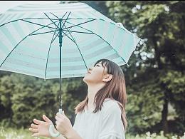 藏在夏日的雨