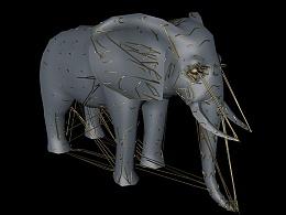 C4D追踪扫描实例:挣脱束缚的大象