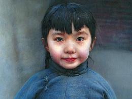 蓝棉袄——祥雷彩铅作品
