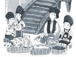 童书插图-木鼓花瑶