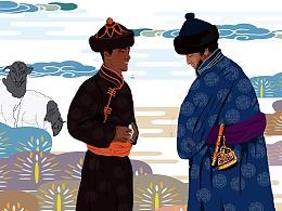 内蒙古阿拉善和硕特部传统蒙古族婚礼长卷