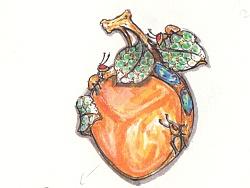 代波军艺术珠宝定制-蜜蜡-果实