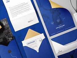 蓝鹿咖啡··品牌logo-vi设计