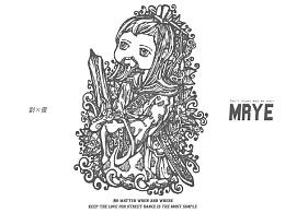 原创黑白插画---《刘备》---MRYE