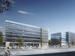 Model S- 特斯拉  科研办公楼项目-(建筑表现效果图)