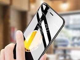 iPhone7钢化膜 手机壳 透明壳精修 手机配件实拍图精修