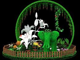 商业美陈#绿植动物