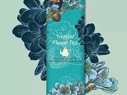热带花茶包装设计