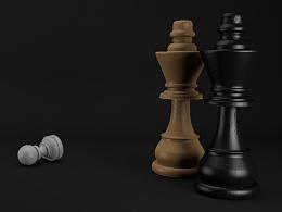 【C4D练习】国际象棋棋子