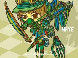 原创插画---《涂鸦风格动漫人物造型》---MRYE
