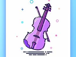 MBE风格乐器插画