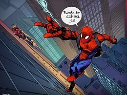 开学了蜘蛛侠要回学校