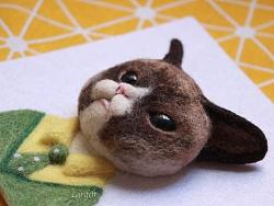 【lari手作】羊毛毡手工立体猫相册