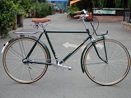 永久28加重自行车改装内三速复古自行车