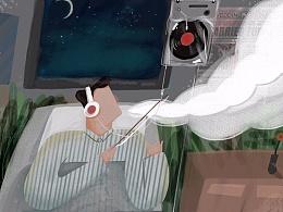 创意插画《音乐与我们》