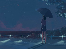 在雨滴的折射里我看见了你