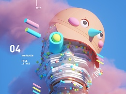 # C4D Freestyle#    Color-trap