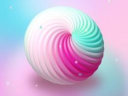 3D五彩螺旋