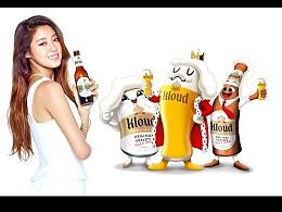 韩国高端啤酒 Kloud 人物表情包开发系列