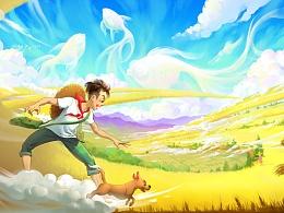 童年·暑假·金色麦田