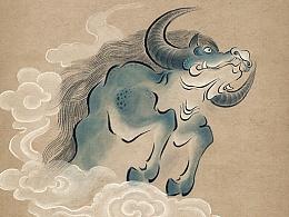 《字中有奇兽》————国风神兽插画