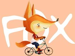插画习作——快乐的小狐狸