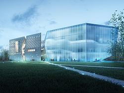 陕西秦文化园项目-图书馆-(建筑表现效果图)