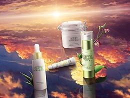 化妆品护肤品电商海报合成和页面合集