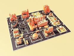 1心1意爱设计——站酷11周年 C4D卡通城市<ZCOOL CITY>