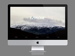 explore网页设计