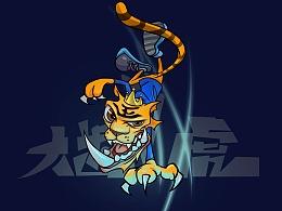 腾讯王卡品牌形象创意设计征集-大齿虎