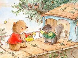 小熊想要当邮差 原创绘本