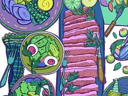 美食插画系列-2