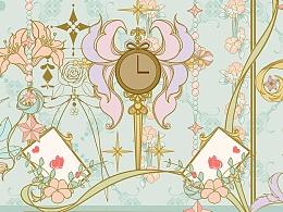 花镜爱丽丝柄图印花