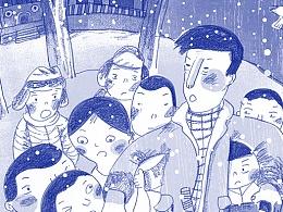 童书插图-学校保卫战