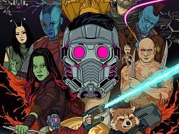 银河护卫队2音乐动态海报