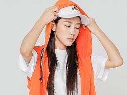 STRETAG思锐泰格橙色马甲马夹世界和平中文刺绣外套