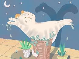 十二星座萌猫系列插画