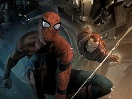 《蜘蛛侠:英雄归来》9月8日震撼上映!海报创作流程