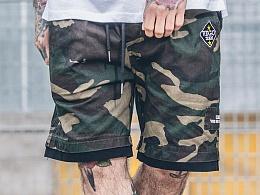 HELL BOY X VEGORRS 假两件迷彩贴布装饰 短裤