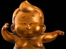 """拥有一份快乐 """"新艺传世"""" 朱吉《小胖吉》 青铜雕塑"""