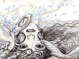 《奇异梦世界》纸本手绘  潜意识推画